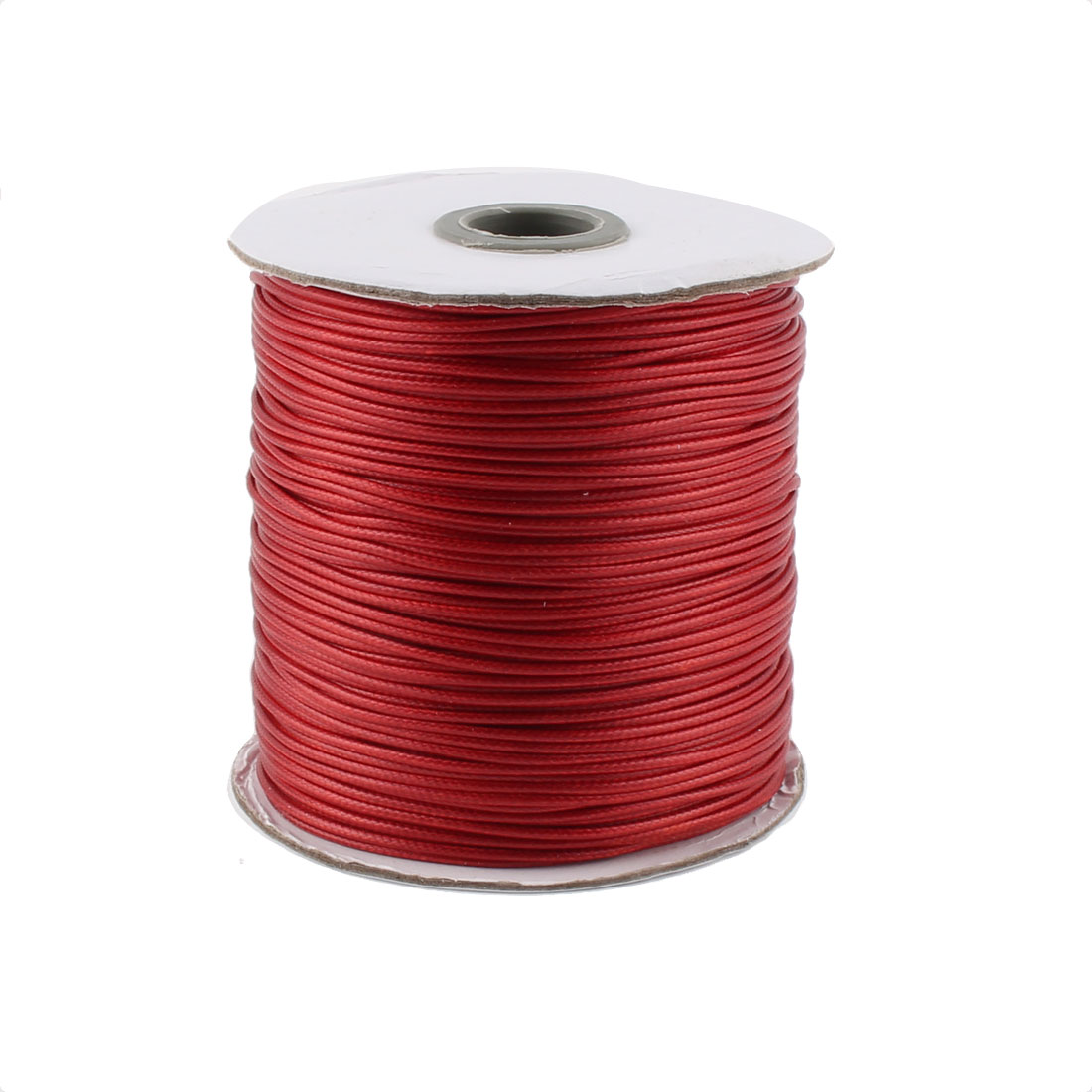 DIY Bracelet Necklace Cotton Waxed Making String Beading Thread Cord Roll Dark Red 190 Yard