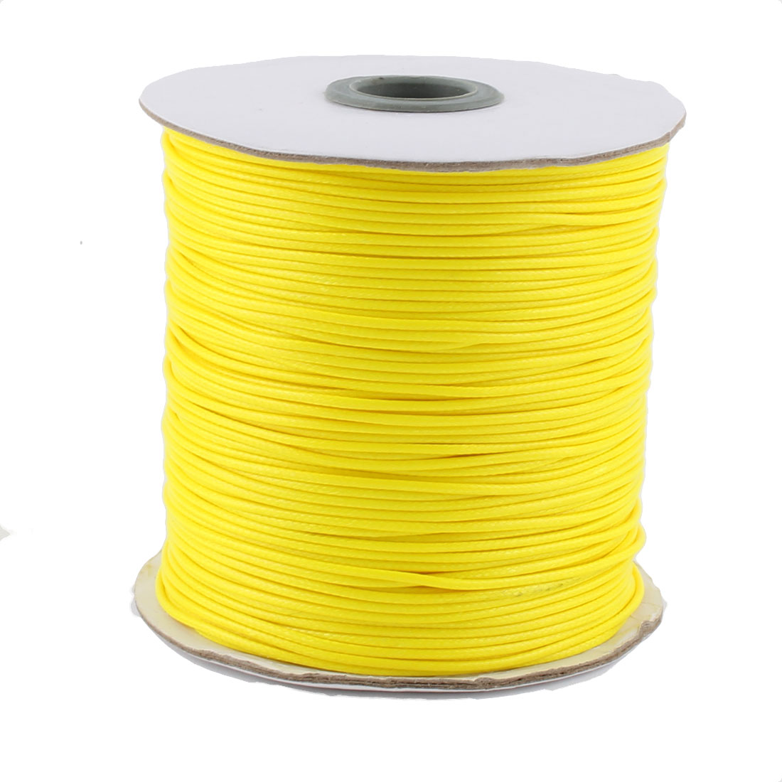 DIY Bracelet Necklace Cotton Waxed Making String Beading Thread Cord Roll Yellow 190 Yard