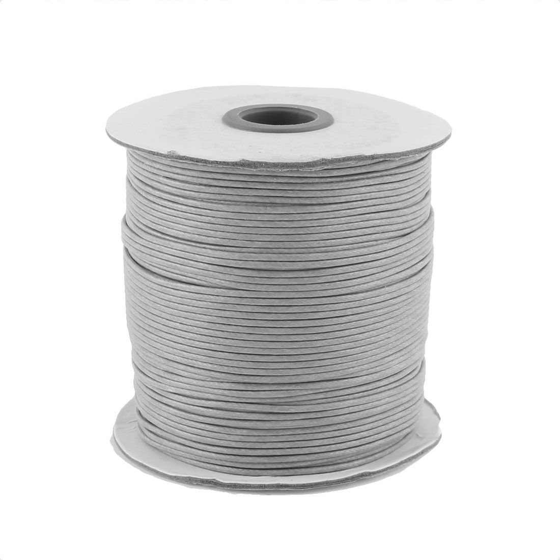 DIY Bracelet Necklace Cotton Waxed Making String Beading Thread Cord Roll Gray 190 Yard