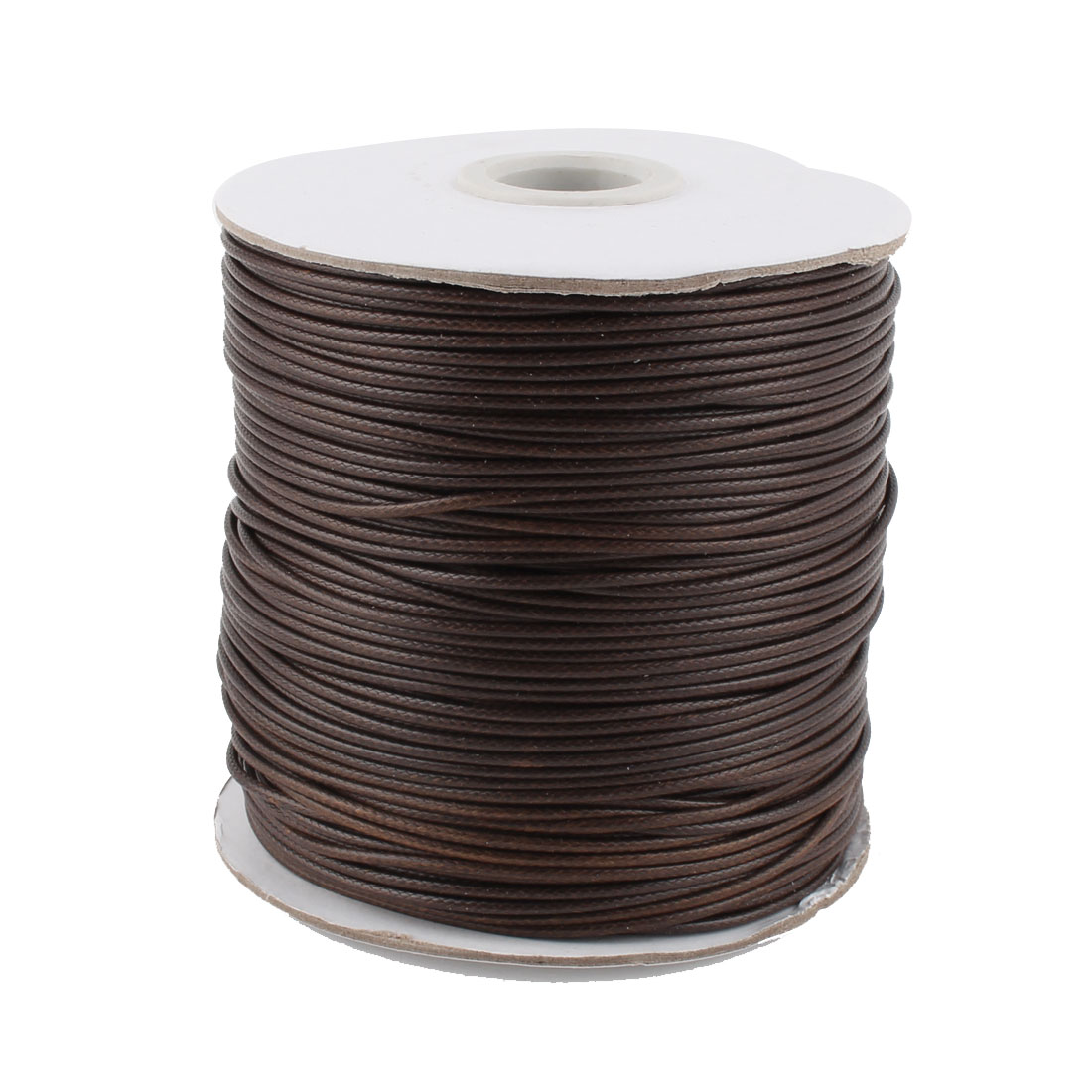DIY Bracelet Necklace Cotton Waxed Making String Beading Thread Cord Roll Coffee Color 190 Yard