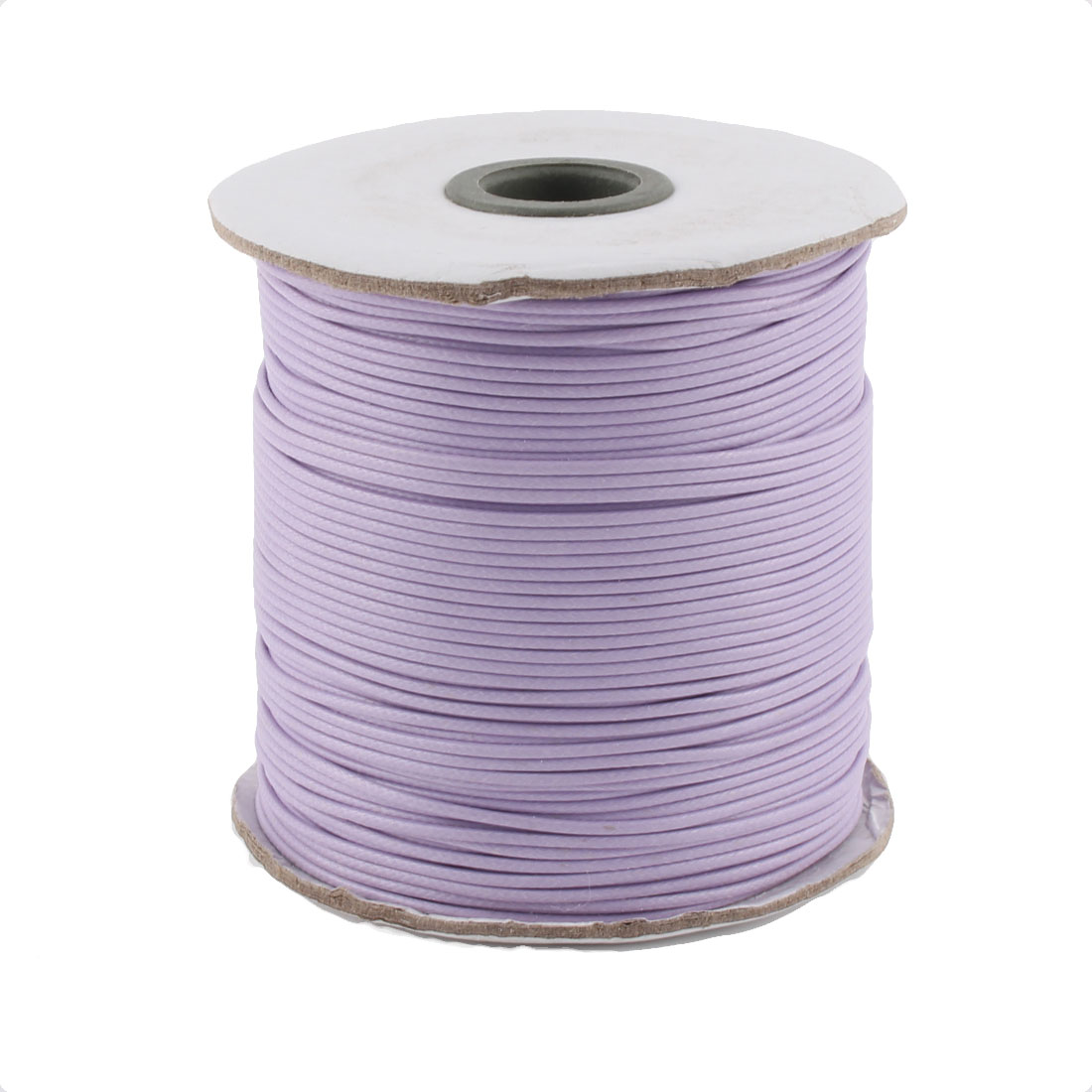 Cotton Waxed Making String Beading Thread Cord Roll Light Purple 190 Yard for Beads Jewelry