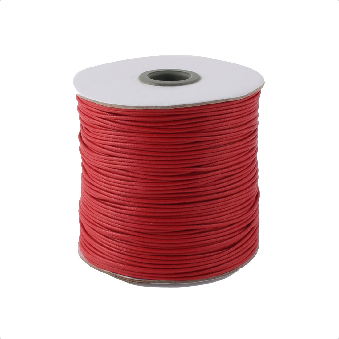 Cotton Waxed Making String Beading Thread Cord Roll Red 190 Yard for Beads Jewelry