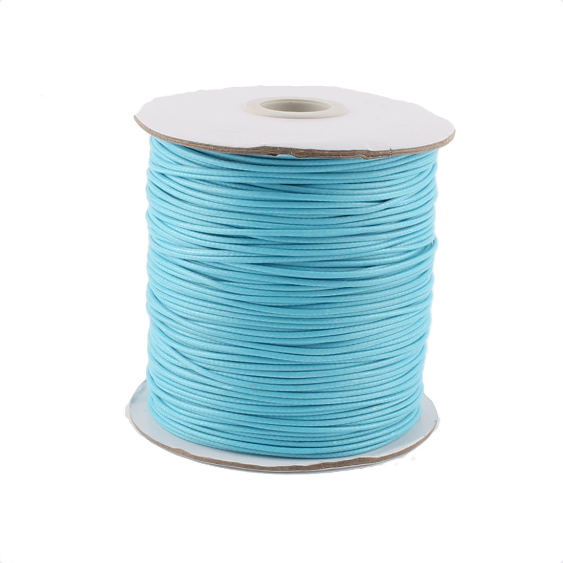 Cotton Waxed Making String Beading Thread Cord Roll Blue 190 Yard for Beads Jewelry