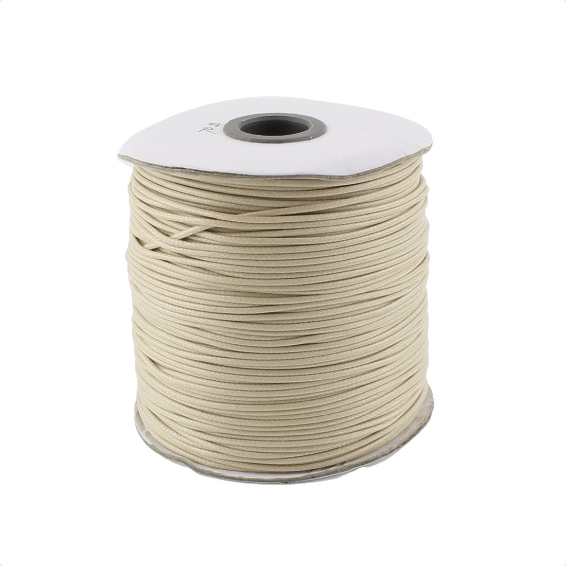 Cotton Waxed Making String Beading Thread Cord Roll Beige 190 Yard for Beads Jewelry