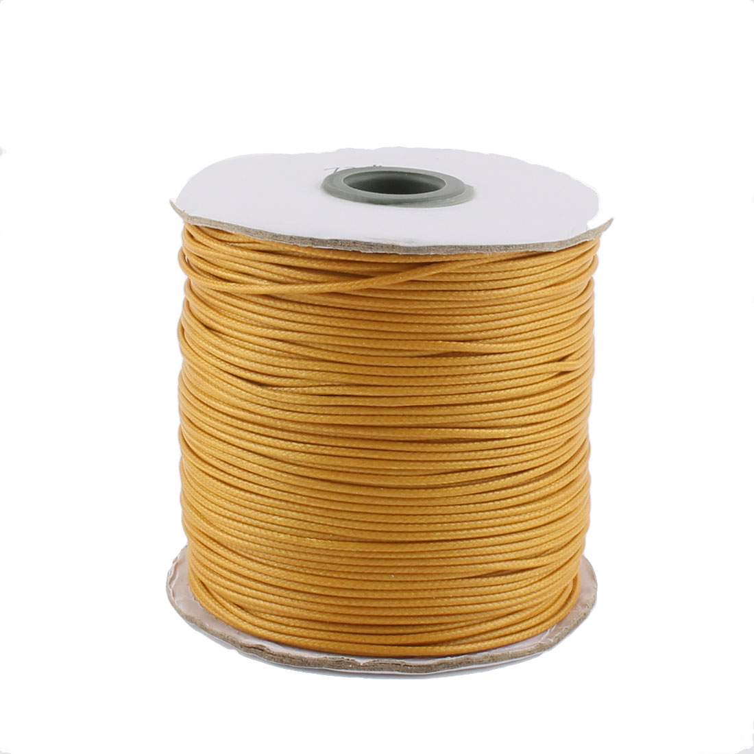 Cotton Waxed Making String Beading Thread Cord Roll Orange 190 Yard for Beads Jewelry