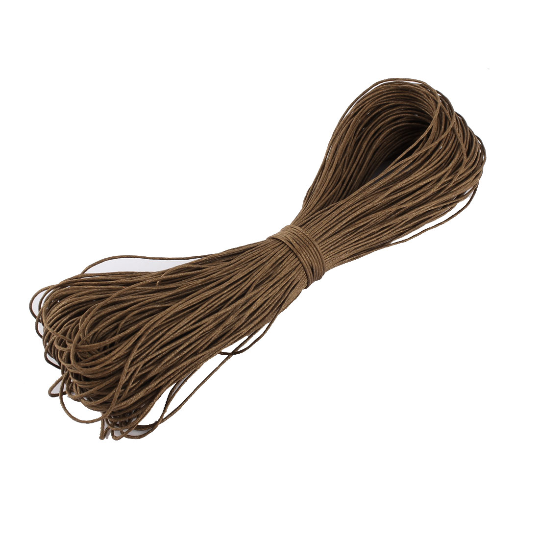 Waxed Cotton String Beading Thread Cord Brown 1mm 87.5 Yard for DIY Bracelet Necklace
