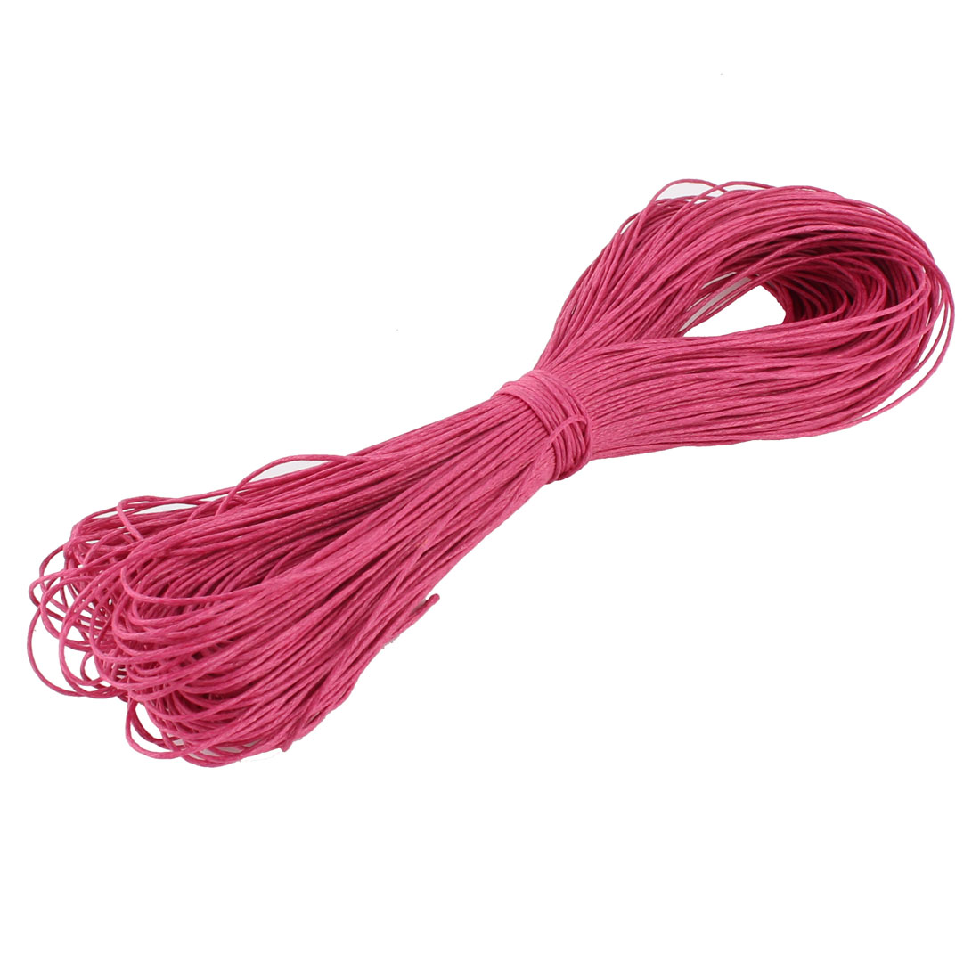 Waxed Cotton String Beading Thread Cord Fuchsia 1mm 87.5 Yard for DIY Bracelet Necklace