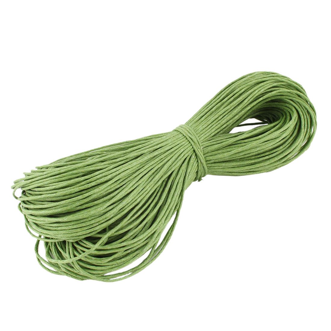Bracelet Necklace Round Faux Leather Making String Beading Thread Cord Light Green 80m Length