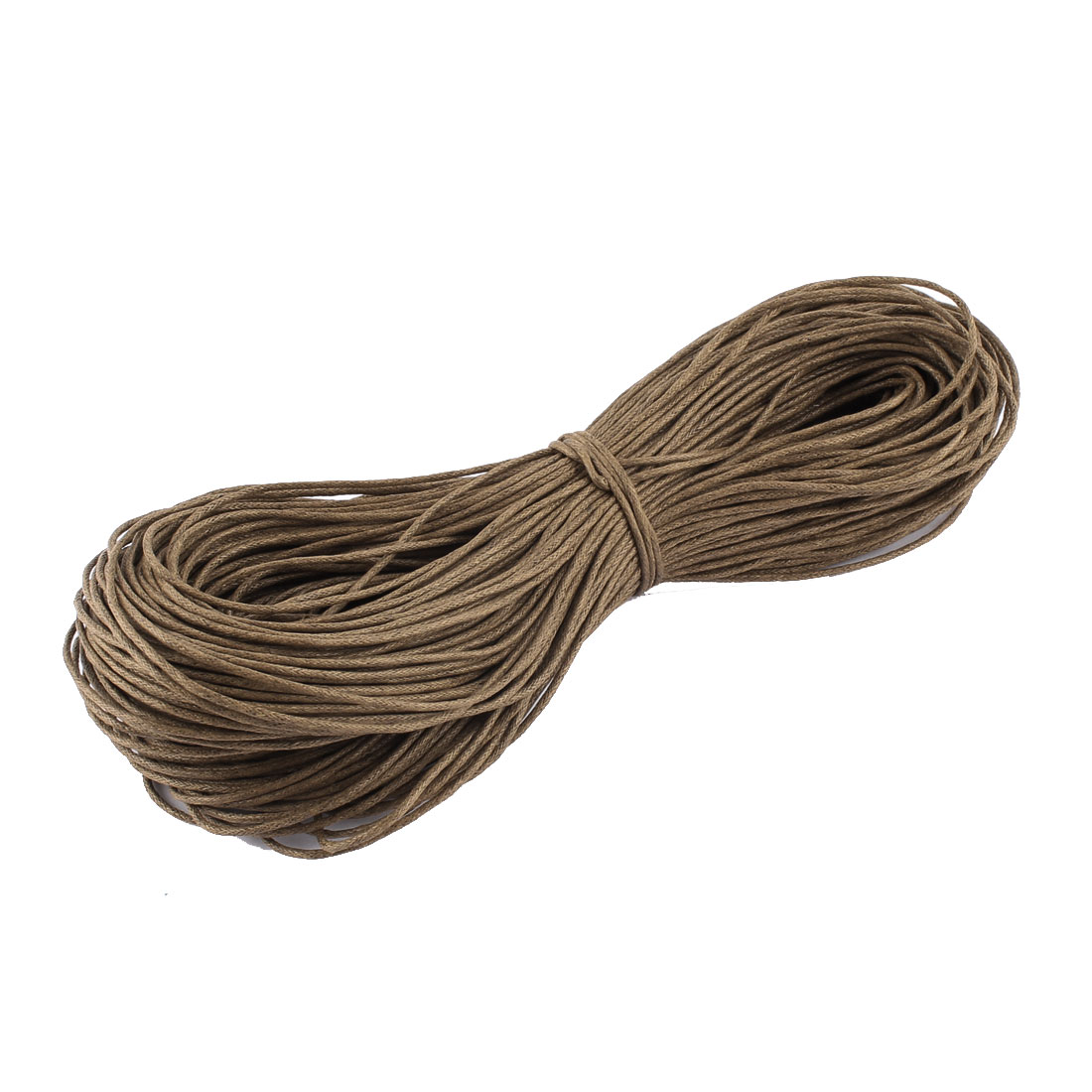 Bracelet Necklace Round Faux Leather String Beading Thread Cord Coffee Color 80m Length