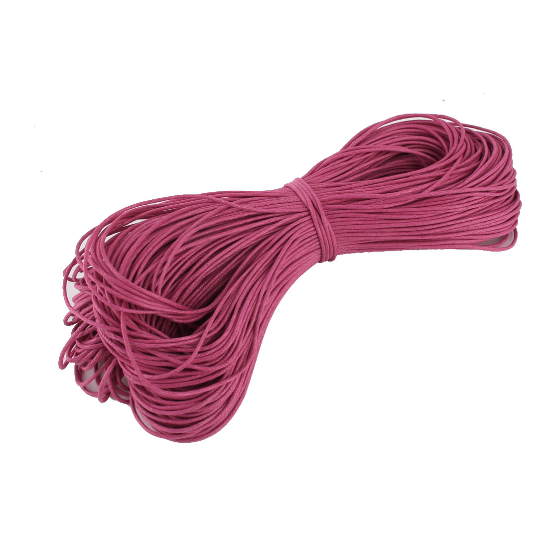 Bracelet Necklace Round Faux Leather String Beading Thread Cord Fuchsia 80m Length