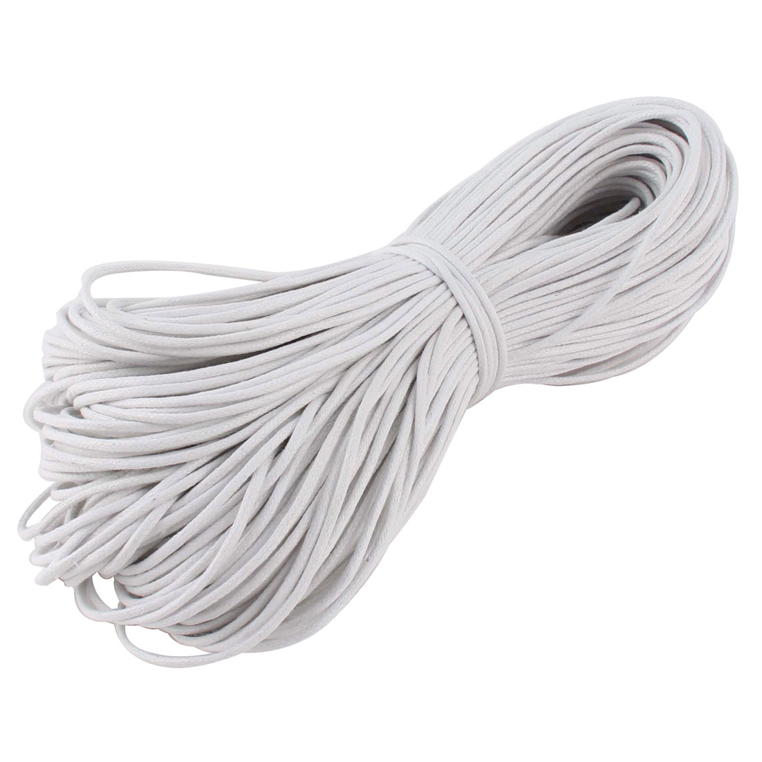DIY Bracelet Necklace Waxed Cotton Making String Beading Thread Cord White 2mm 87.5 Yard