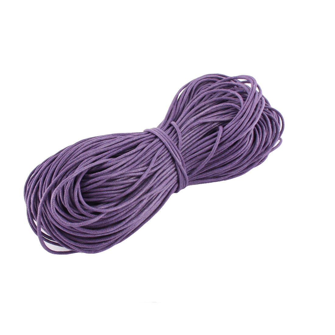 DIY Bracelet Necklace Waxed Cotton Making String Beading Thread Cord Purple 2mm 87.5 Yard