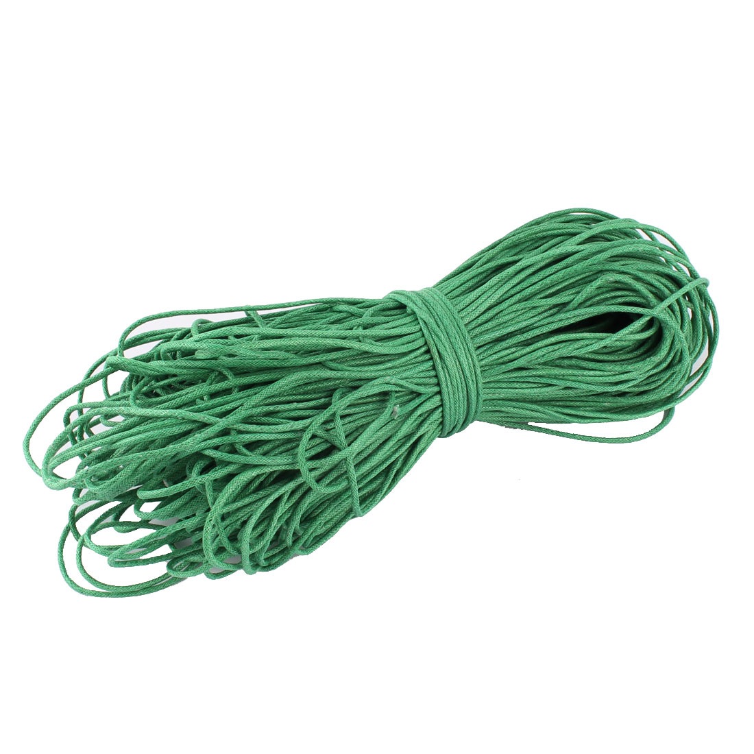 DIY Bracelet Necklace Waxed Cotton Making String Beading Thread Cord Green 2mm 87.5 Yard