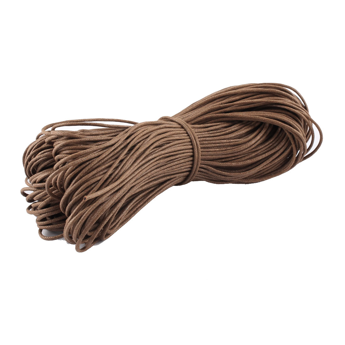 Bracelet Necklace Craft DIY Waxed Cotton String Beading Thread Cord Brown 2mm 87.5 Yard
