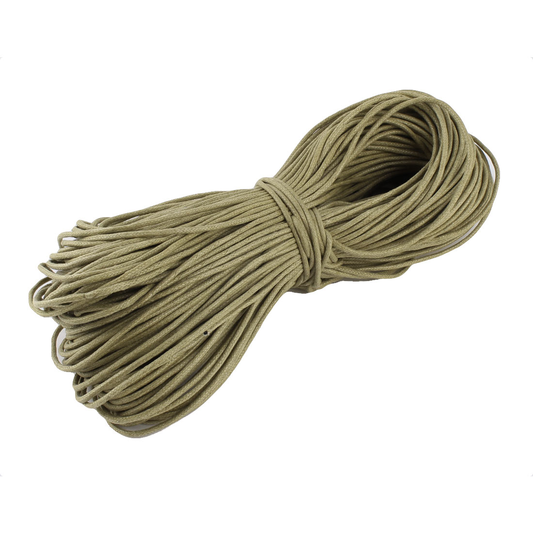Bracelet Necklace Craft DIY Waxed Cotton String Beading Thread Cord Khaki 2mm 87.5 Yard