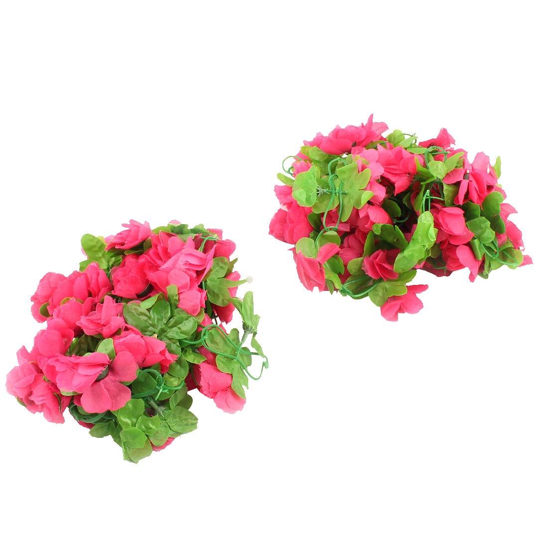 Room Wall Plastic Artificial Hanging Vine Decor Green Red 2 Meter Long 2 Pcs
