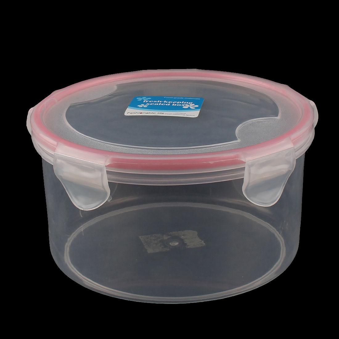 Kitchen Plastic Round Fruit Food Storage Sealed Crisper Container Box Lunchbox
