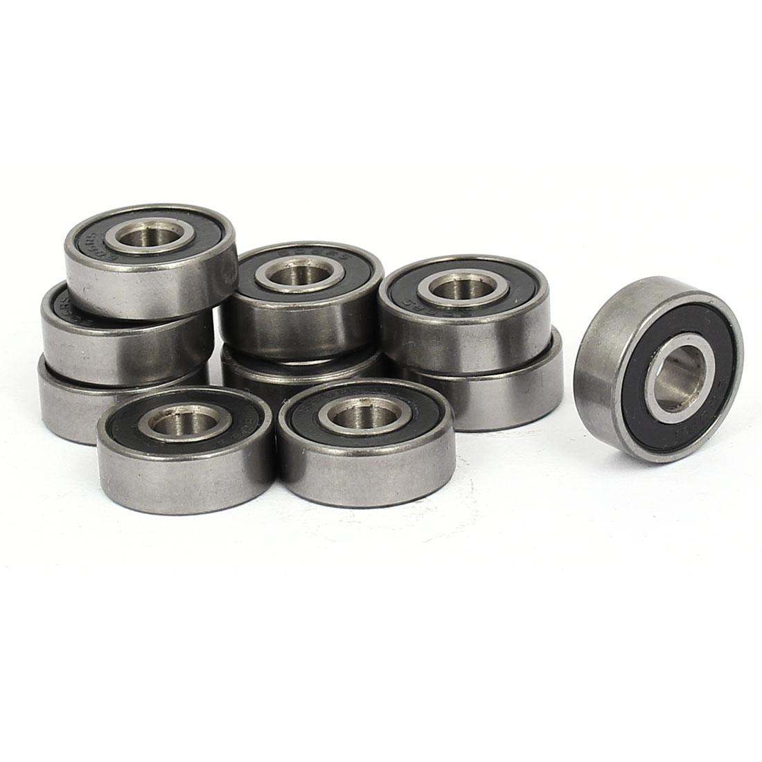 6mmx17mmx6mm Seal Deep Groove Rolling Ball Bearings 606RS 10pcs