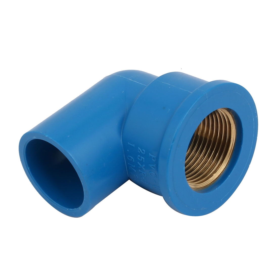 """RC3/4"""" Female Thread PVC-U 90 Degree Elbow Pipe Fitting Connector Adapter Blue"""