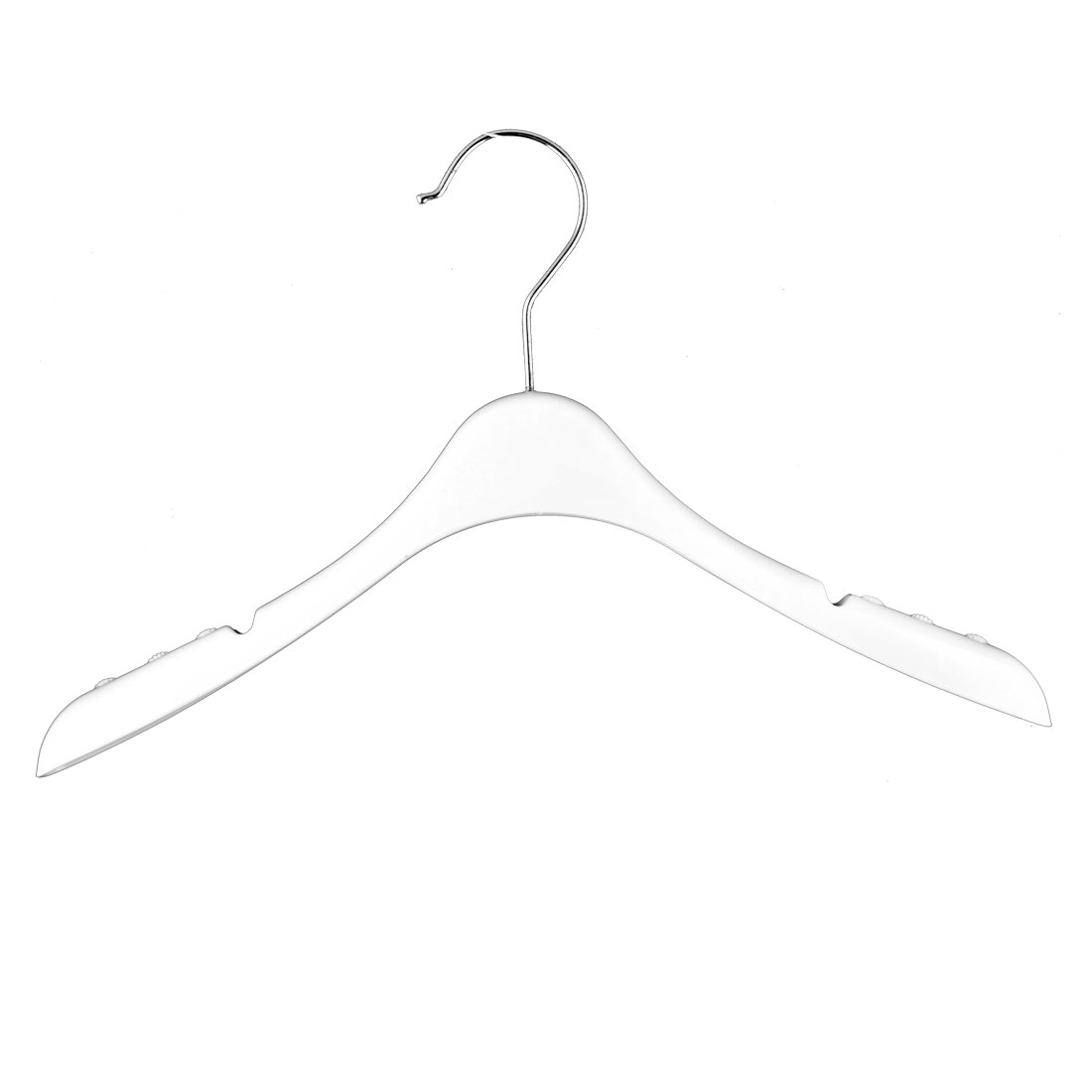 Home Bathroom Balcony Plastic Nonslip Suits Pants Clothes Clothing Hanger Hook White