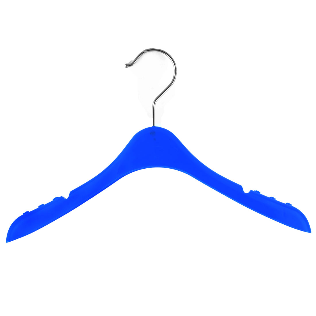 Household Plastic Nonslip Clothes Skirts Pants Trousers Towel Hangers Hooks Blue