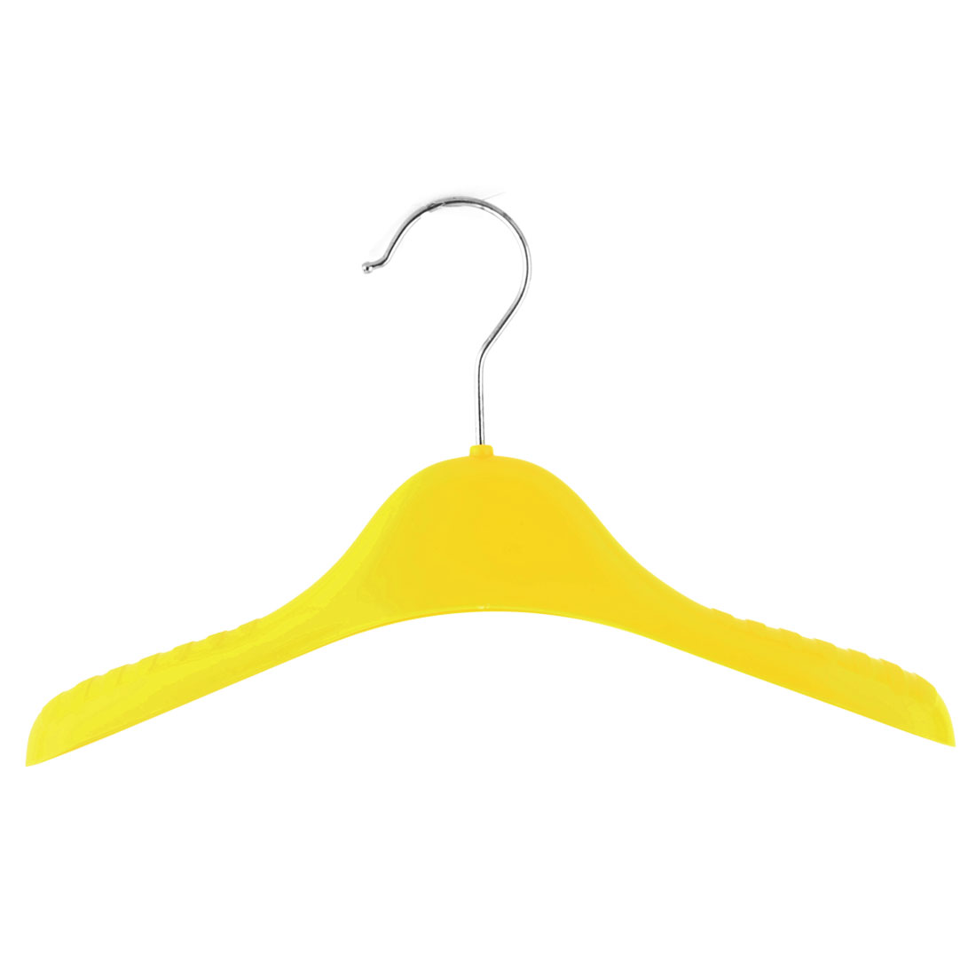 Household Nonslip Clothes Skirts Pants Trousers Towel Hangers Hooks Holder Yellow