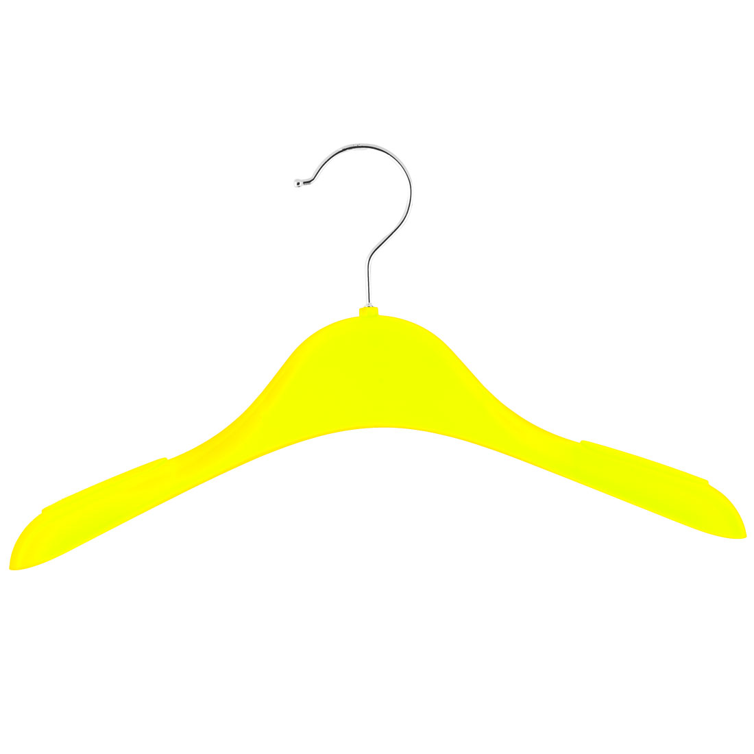 Household Plastic Antislip Clothes Skirts Pants Trousers Towel Hangers Hooks Yellow