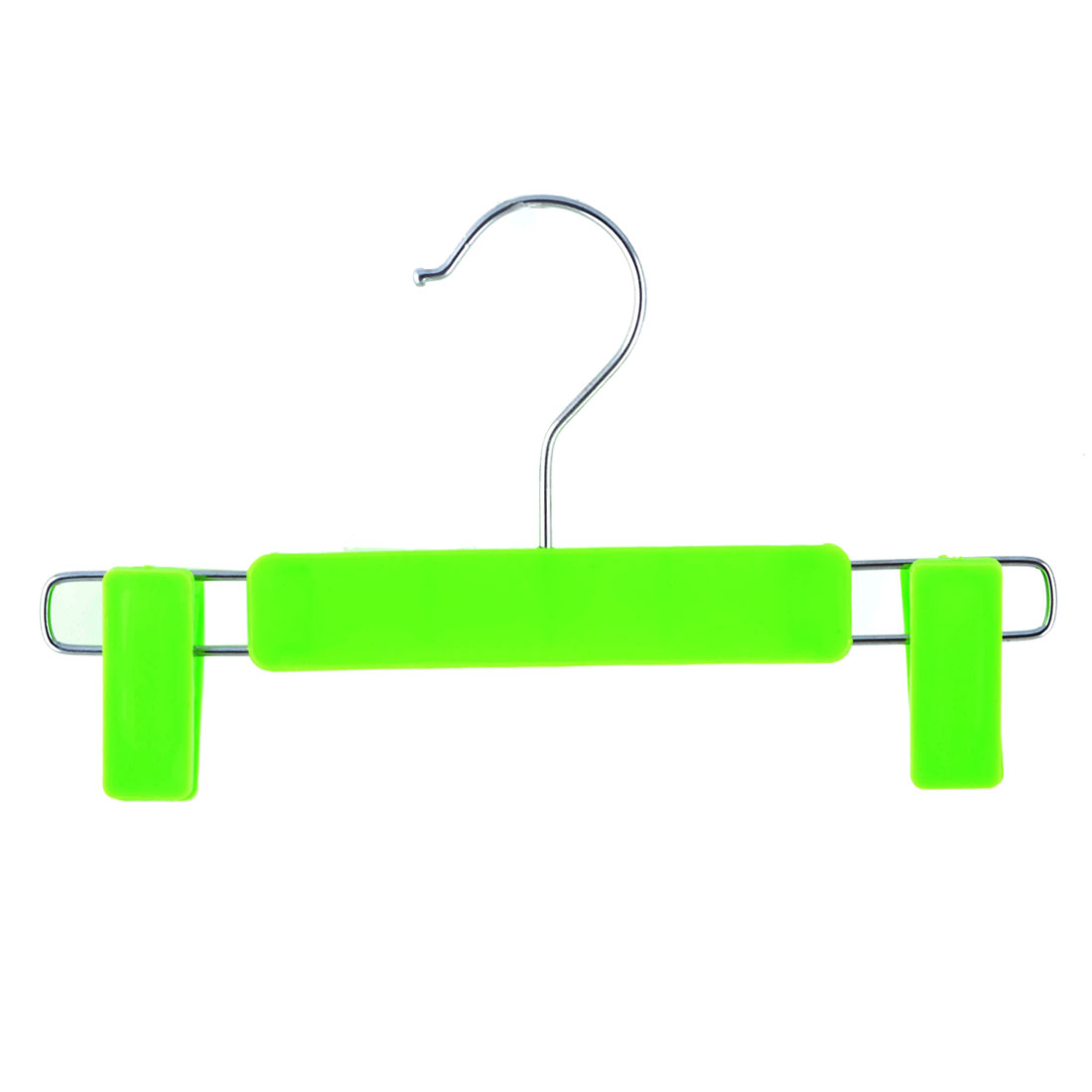 Home Wardrobe Plastic Double Clips Suits Pants Clothes Clothing Hanger Hook Green