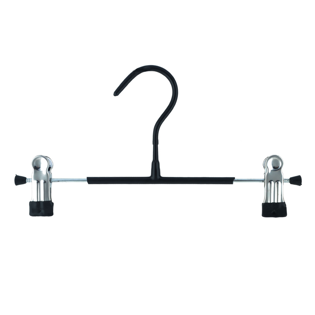 Household Wardrobe Plastic Double Clips Suits Pants Clothes Clothing Hanger Hook Black