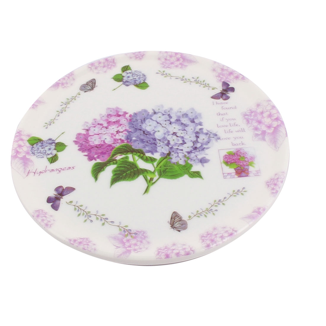 Tableware Melamine Lavender Pattern Heat Insulation Placemat Dish Plate Mat 16.5 Dia