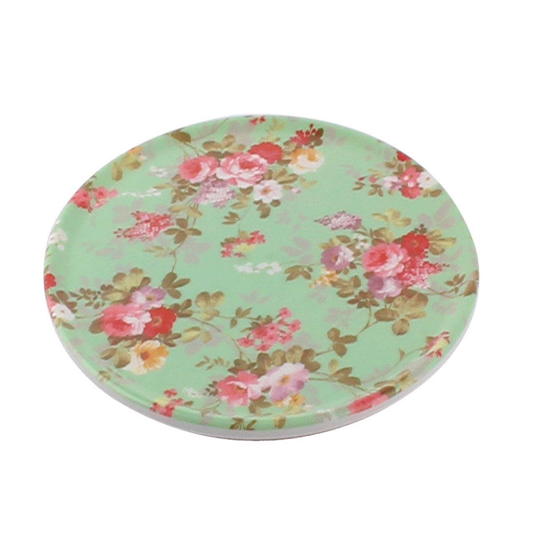 Tableware Melamine Chinese Rose Flower Pattern Heat Insulation Placemat Dish Plate