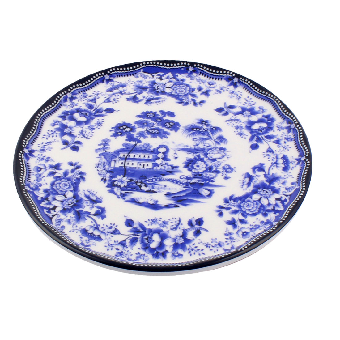 Tableware Melamine Classic Style Heat Insulation Placemat Dish Plate Mat Blue