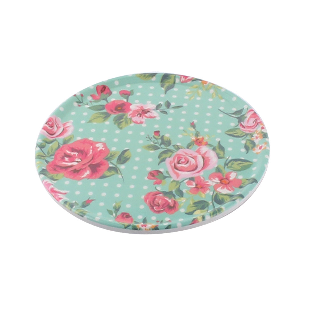 Tableware Melamine Rose Pattern Heat Insulation Placemat Dish Plate Mat 16.5 Dia