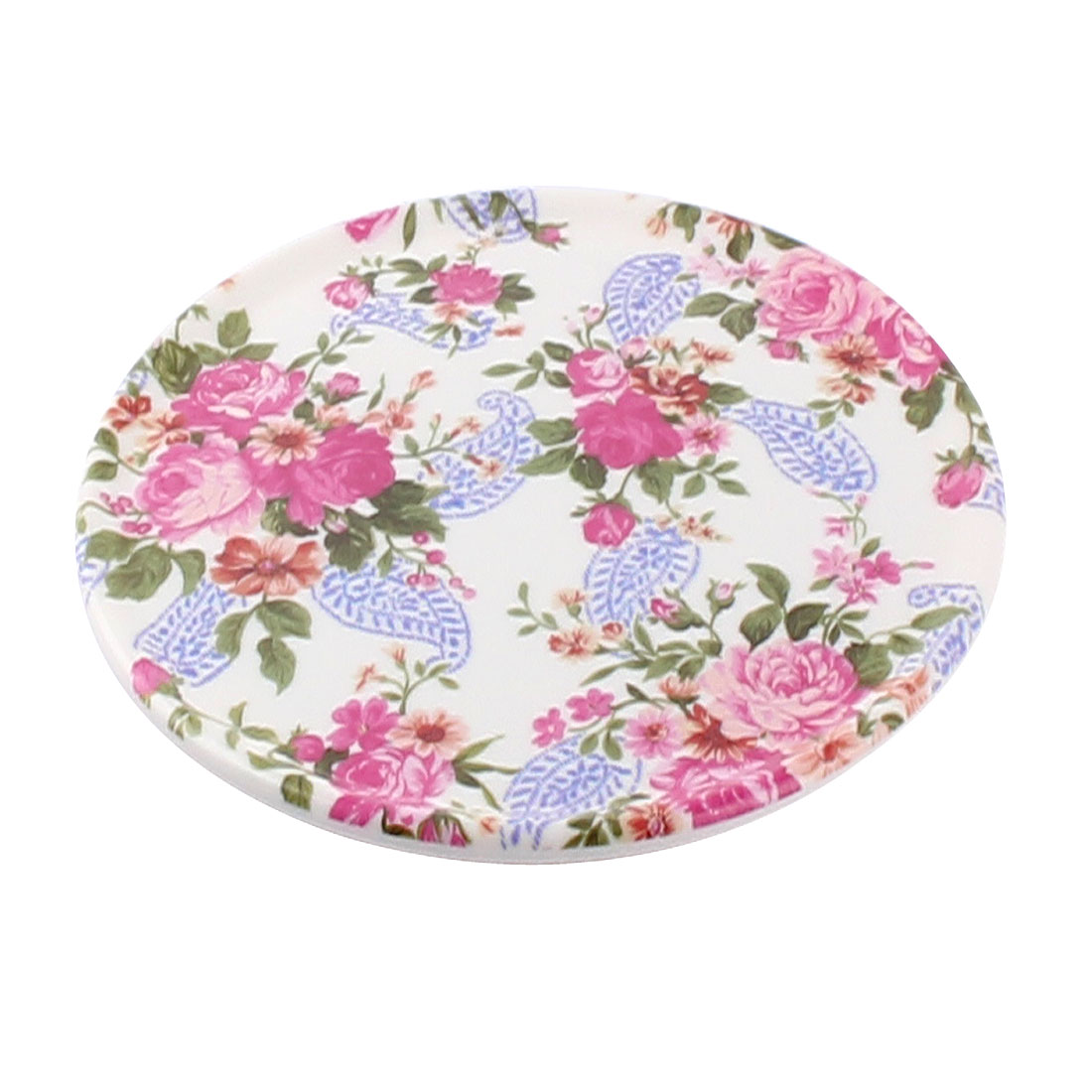 Tableware Melamine Chinese Rose Printed Heat Insulation Placemat Dish Plate Mat