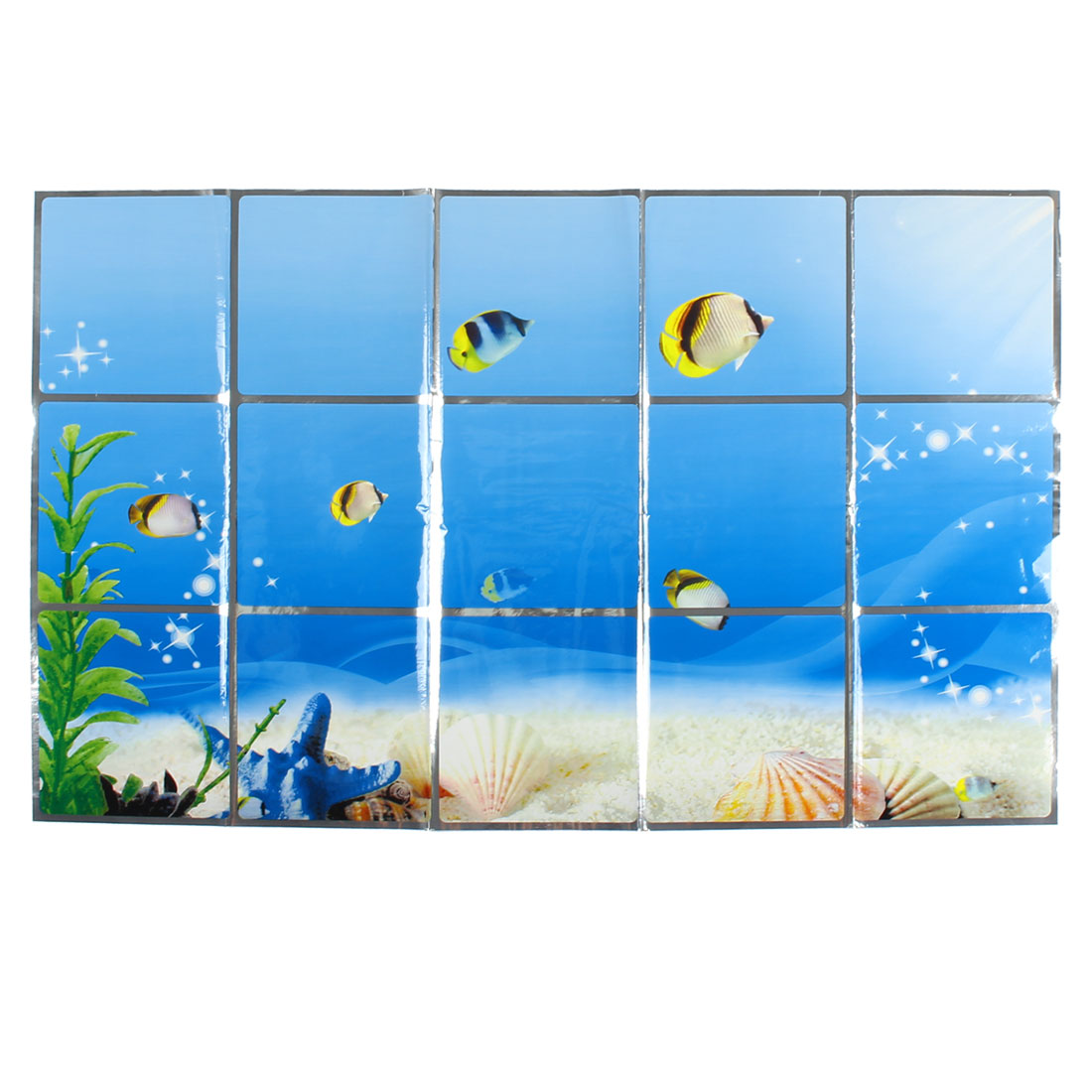 Kitchen Undersea World Pattern Removable Self-adhesive Oilproof Wall Window Sticker 75 x 45cm