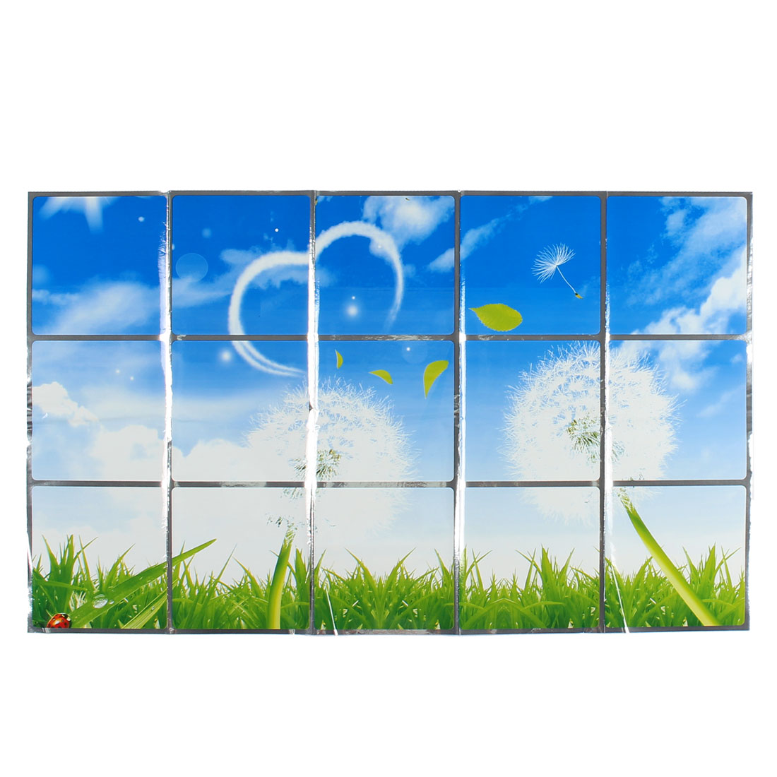 Kitchen Dandelion Pattern Removable Self-adhesive Oilproof Wall Window Sticker 75 x 45cm