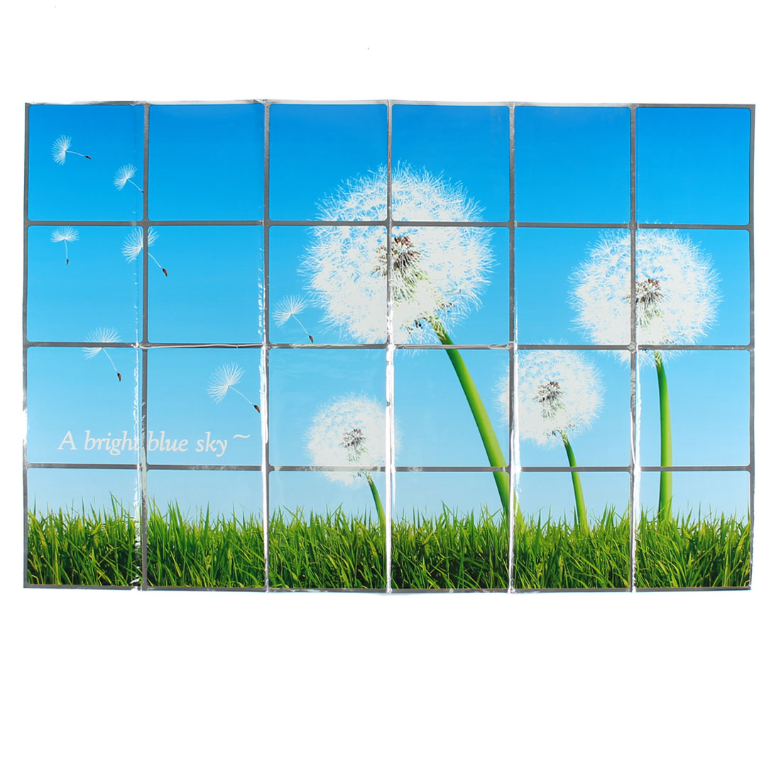 Kitchen Dandelion Pattern Removable Self-adhesive Oilproof Wall Window Sticker 90 x 60cm