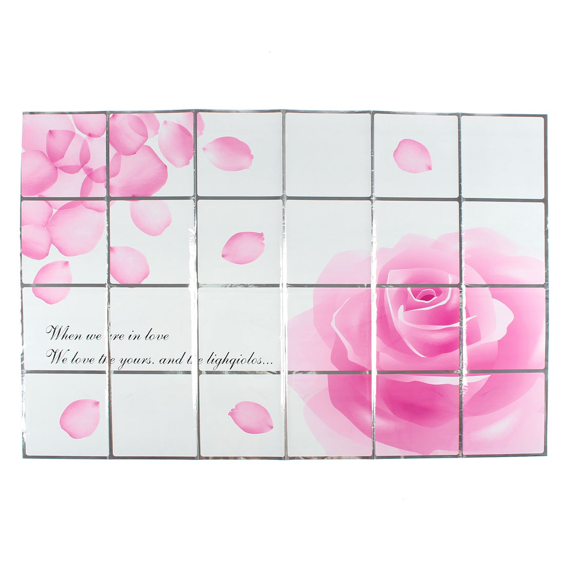 Kitchen Roses Pattern Removable Self-adhesive Oilproof Wall Window Sticker 90 x 60cm