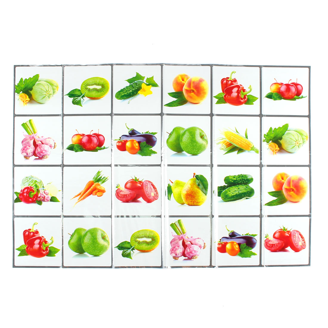 Kitchen Fruits Pattern Removable Self-adhesive Oilproof Wall Window Sticker 90 x 60cm