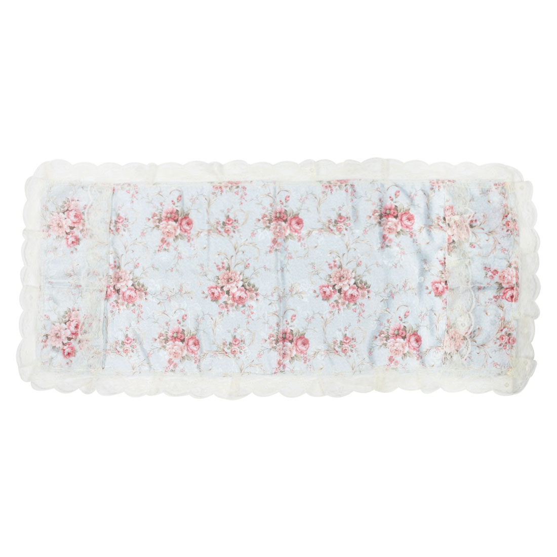 Household Refrigerator Fridge Desktop Polyester Flower Pattern Dustproof Dust Cover