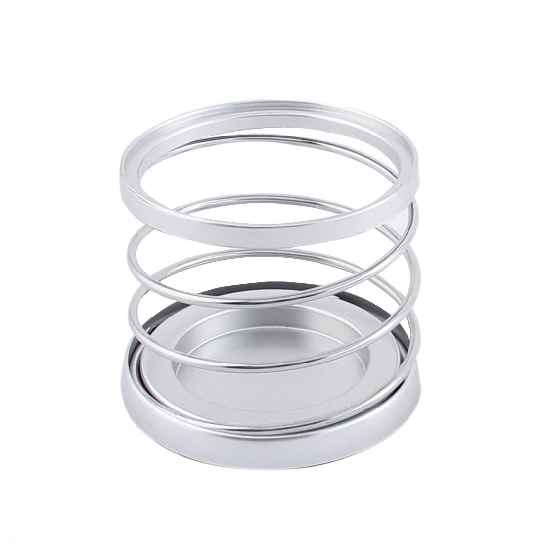 Car Automobile Metal Spring Beverage Rack Shelf Cup Bottle Holder Silver Tone