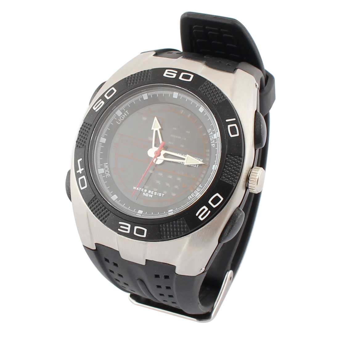 Outdoor Sports Water Resistant Luminous Peak Climbing Watch Black Gray