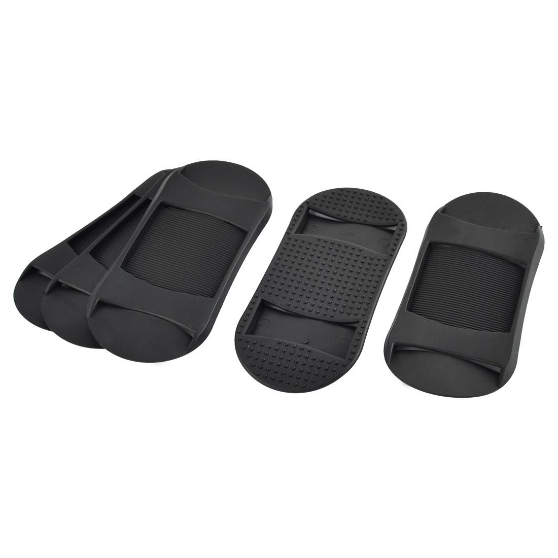 Backpack Suitcase Plastic Anti-slip Replacement Shoulder Bag Strap Pads Black 5pcs