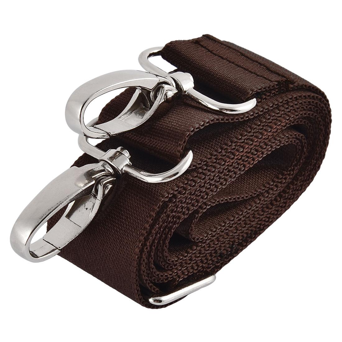 Household Travel Nylon Adjustable Shoulder Strap Suitcase Belt Sling Coffee Color