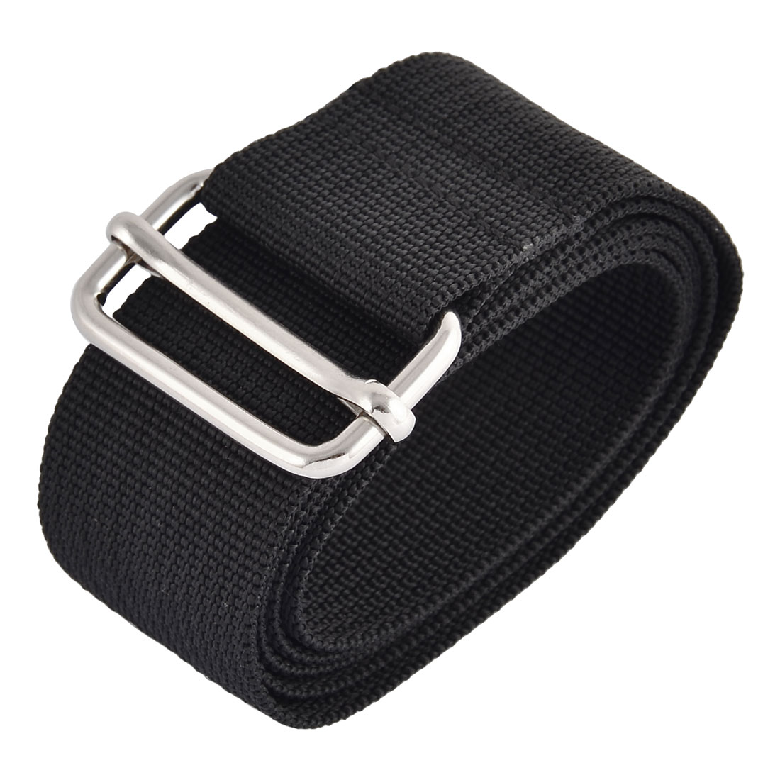 Household Travel Nylon Adjustable Suitcase Luggage Strap Belt Buckle Black 1M Length