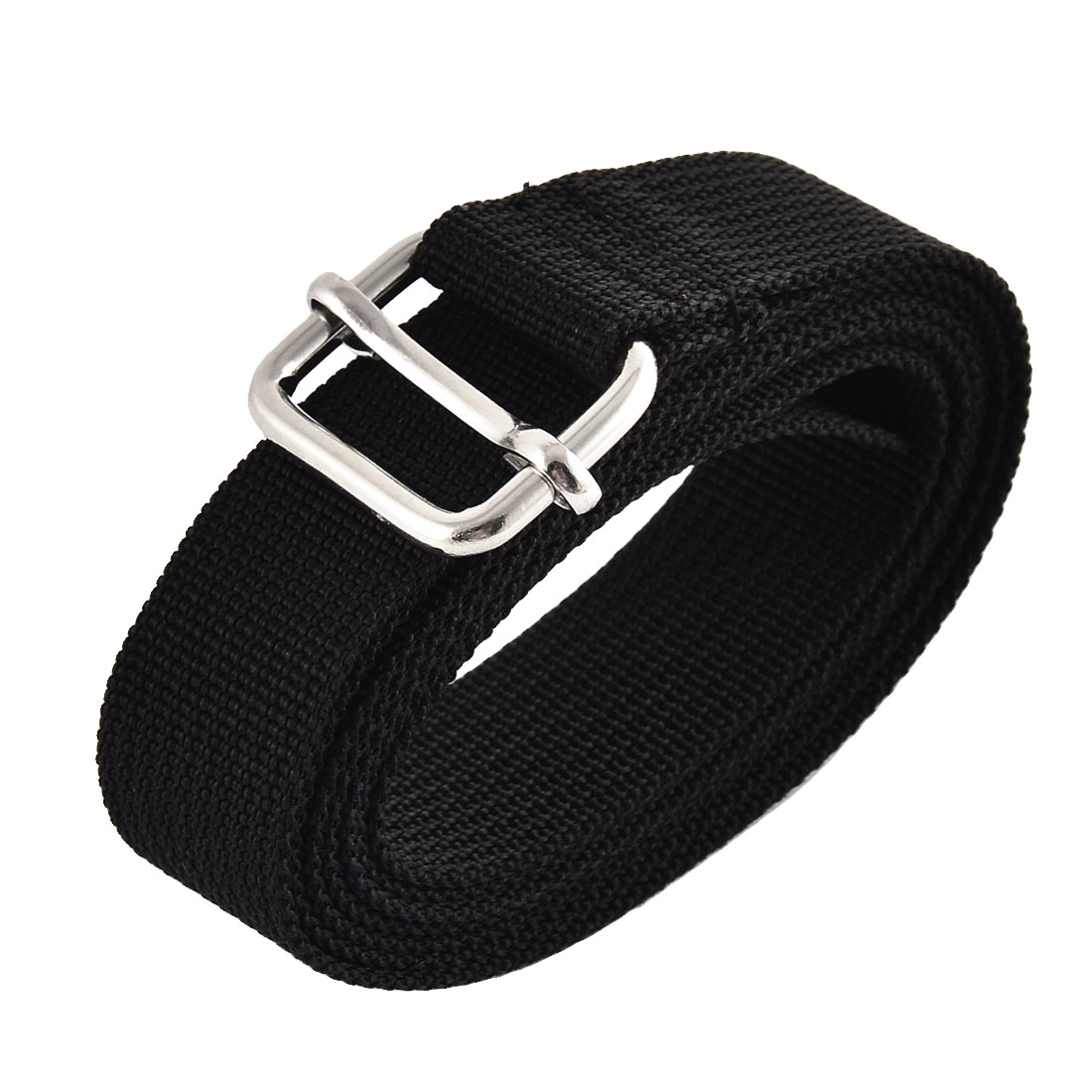 Travel Metal Loop Nylon Adjustable Suitcase Luggage Strap Belt Buckle Black 2.5 x 150cm