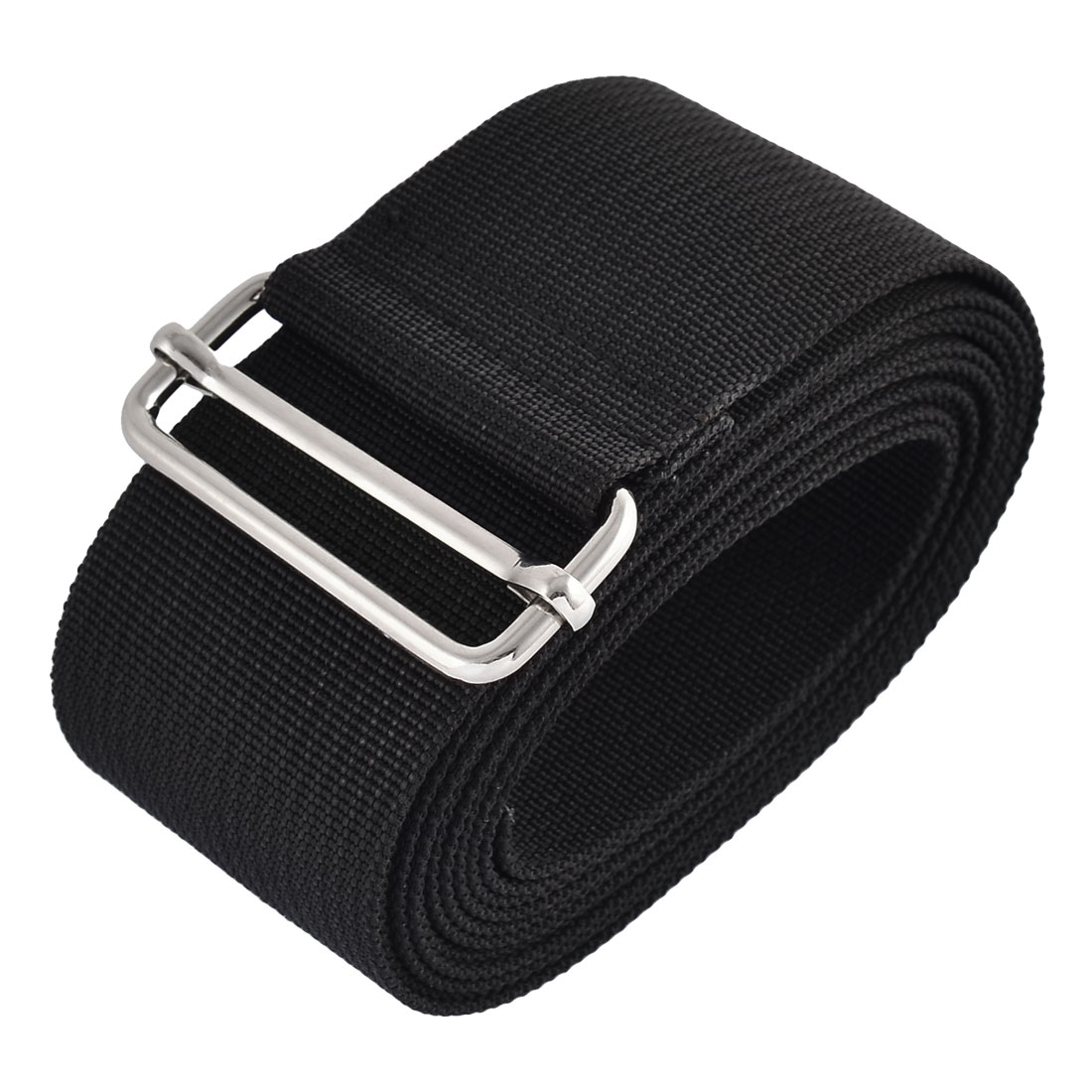 Household Travel Nylon Adjustable Suitcase Luggage Strap Belt Buckle Black 2.5M Length