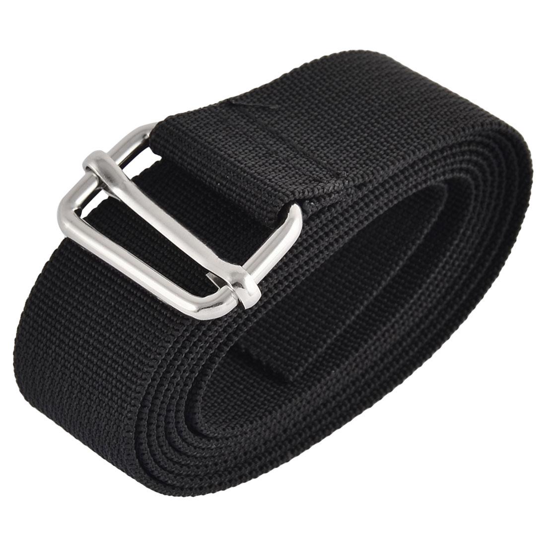 Household Travel Nylon Adjustable Suitcase Luggage Strap Belt Buckle Black 1.5M Length