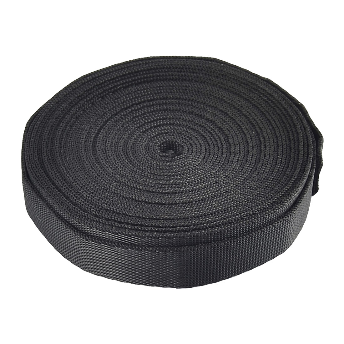 Household Nylon Suitcase Luggage Fastening Strap Belt Webbing Black 5M Length