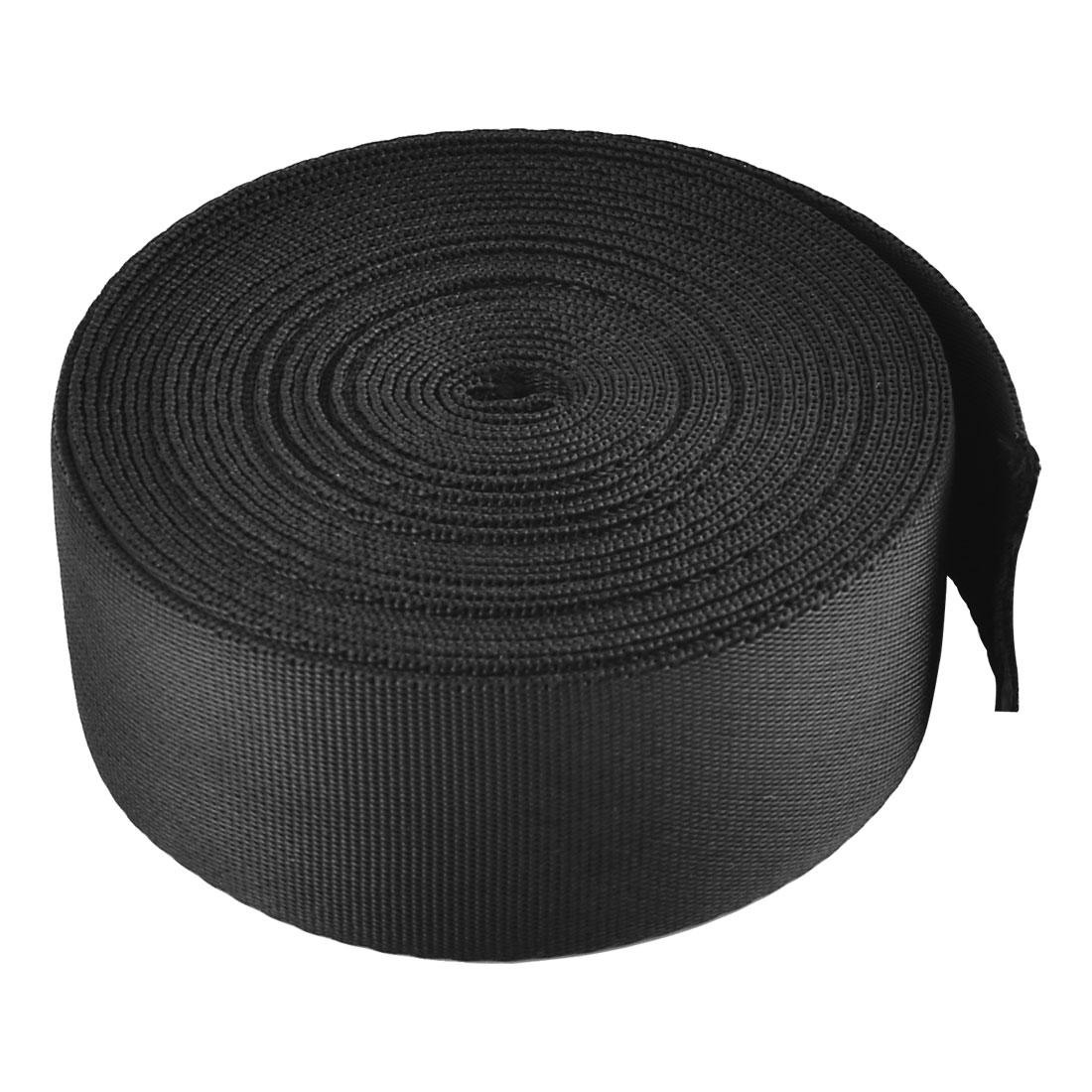 Household Nylon Suitcase Luggage Fastening Strap Belt Webbing Black 3.8 x 500cm